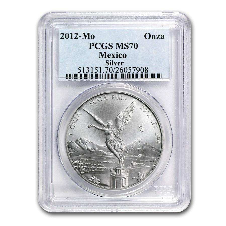 2012 Mexico 1 oz Silver Libertad MS-70 PCGS