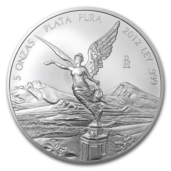 2012 Mexico 5 oz Silver Libertad BU