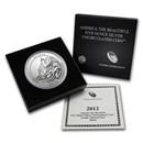 2012-P 5 oz Silver ATB Acadia (w/Box & COA)