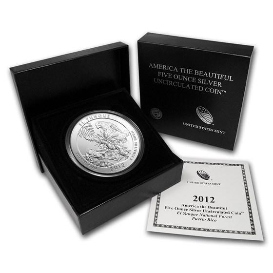 2012-P 5 oz Silver ATB El Yunque (w/Box & COA)