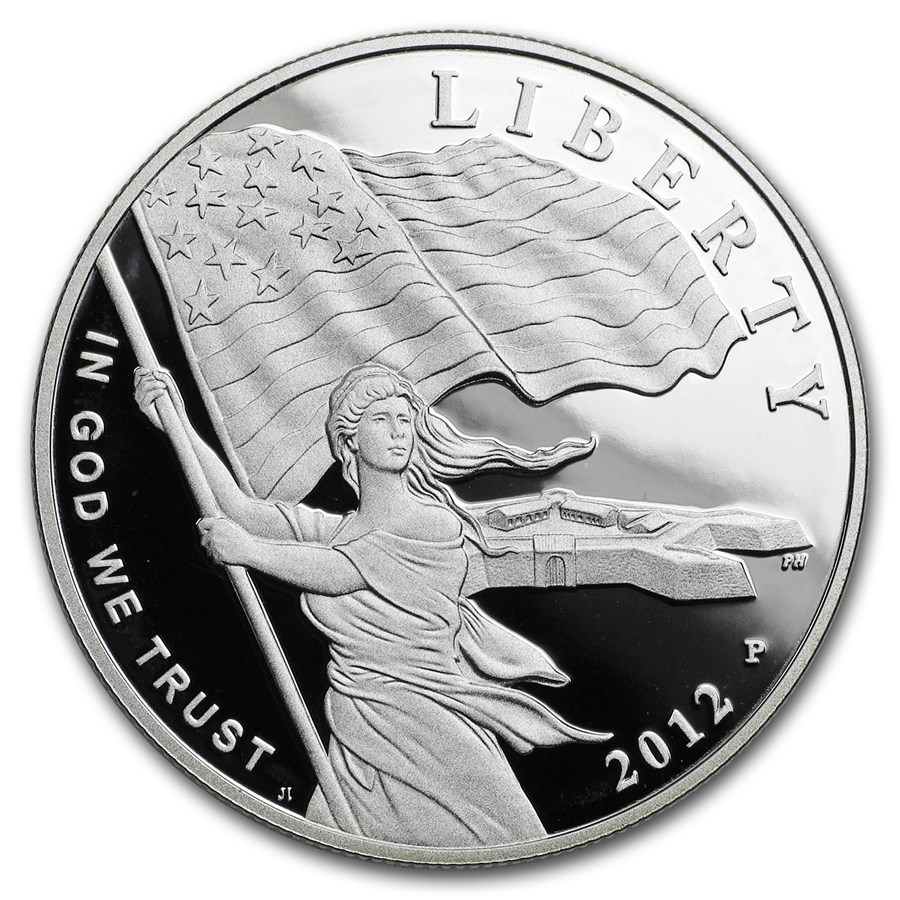 2012-P Star Spangled Banner $1 Silver Commem Proof (Capsule Only)