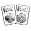 2012-S 2-Coin Proof Silver Eagle Set PF-69 NGC (FR)