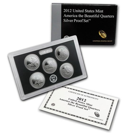 2012-S America the Beautiful Quarters Silver Proof Set