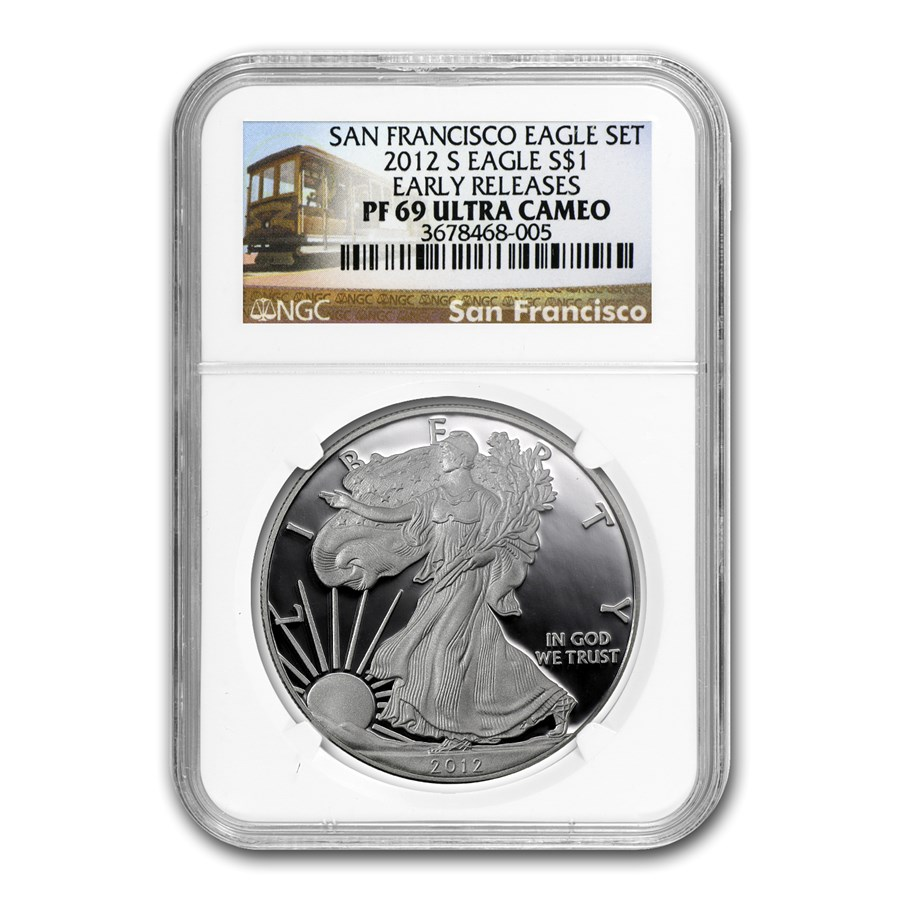 2012-S Proof Silver American Eagle PF-69 NGC (ER, 75th Anniv)