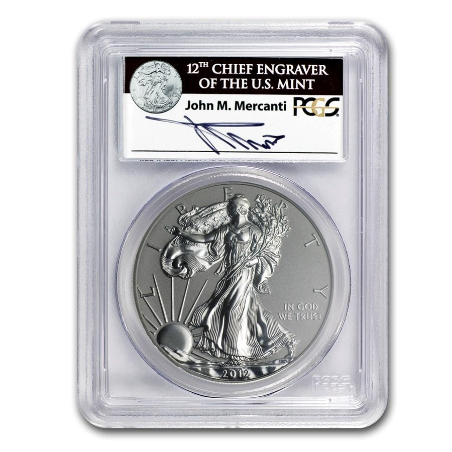 2012-S Reverse Proof Silver Eagle PR-69 PCGS (John Mercanti)