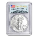 2012 (S) Silver American Eagle MS-70 PCGS (FirstStrike®)