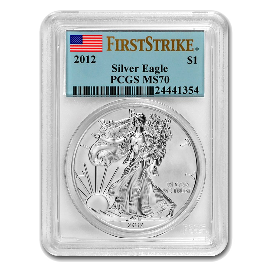 2012 Silver American Eagle MS-70 PCGS (FirstStrike®)