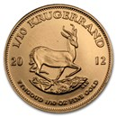 2012 South Africa 1/10 oz Gold Krugerrand