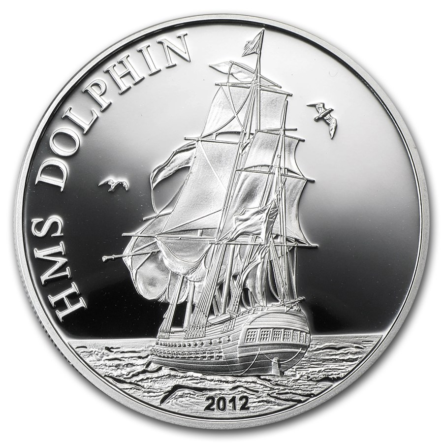 2012 Tokelau Proof Silver $5 HMS Dolphin