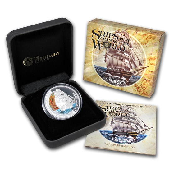 2012 TUV 1 oz Silver Ships that Changed the World Pf (Cutty Sark)