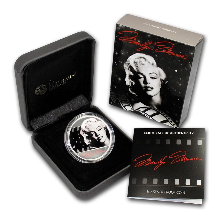 2012 Tuvalu 1 oz Silver Marilyn Monroe Proof