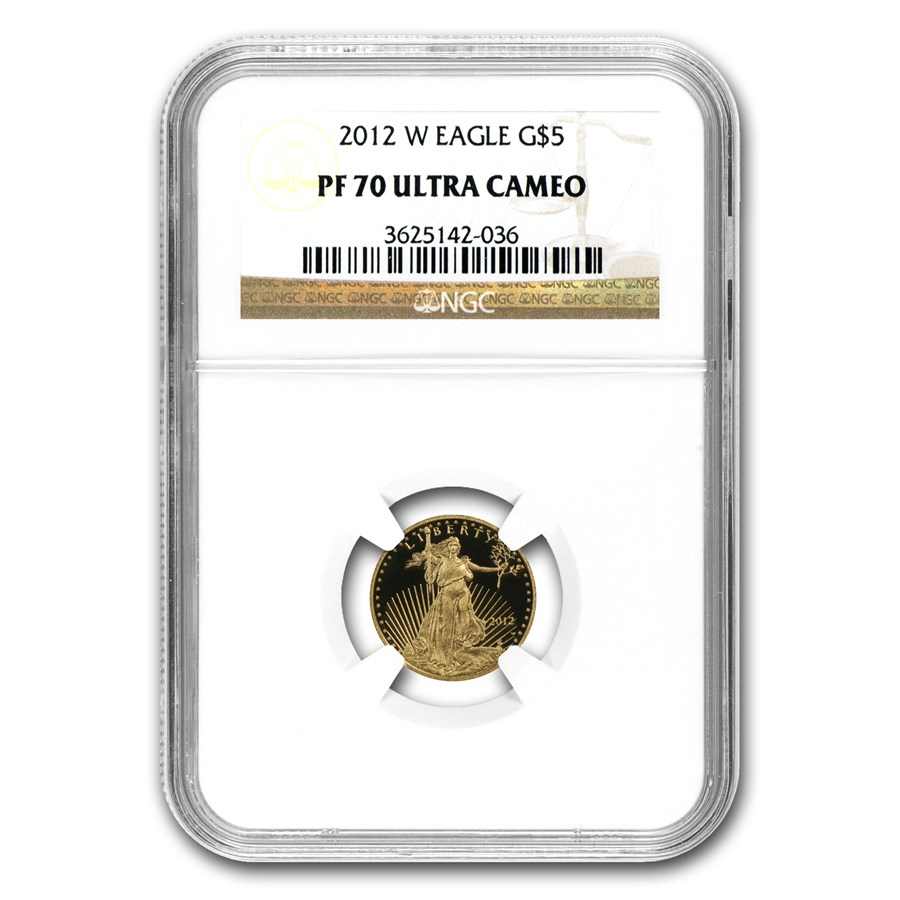 2012-W 1/10 oz Proof American Gold Eagle PF-70 NGC