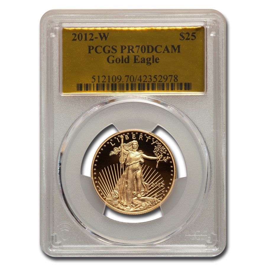 2012-W 1/2 oz Proof American Gold Eagle PR-70 PCGS (Gold Foil)