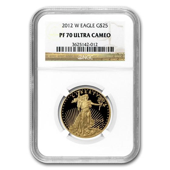 2012-W 1/2 oz Proof Gold American Eagle PF-70 NGC