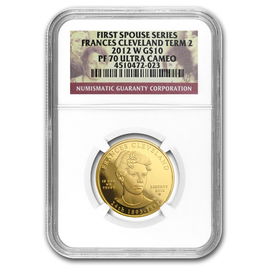 2012-W 1/2 oz Proof Gold Frances Cleveland 2nd Term PF-70 NGC