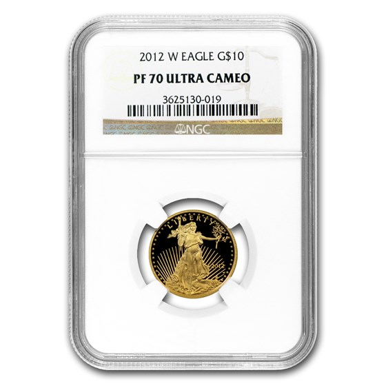 2012-W 1/4 oz Proof American Gold Eagle PF-70 NGC