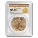 2012-W 1 oz Burnished Gold Eagle MS-70 PCGS (Cleveland Signature)