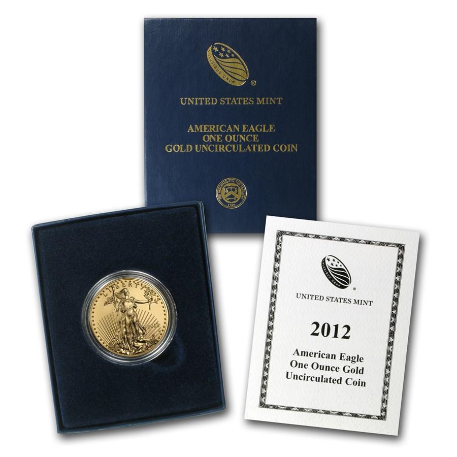 2012-W 1 oz Burnished Gold Eagle (w/Box & COA)