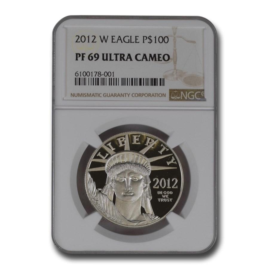 2012-W 1 oz Proof American Platinum Eagle PF-69 NGC