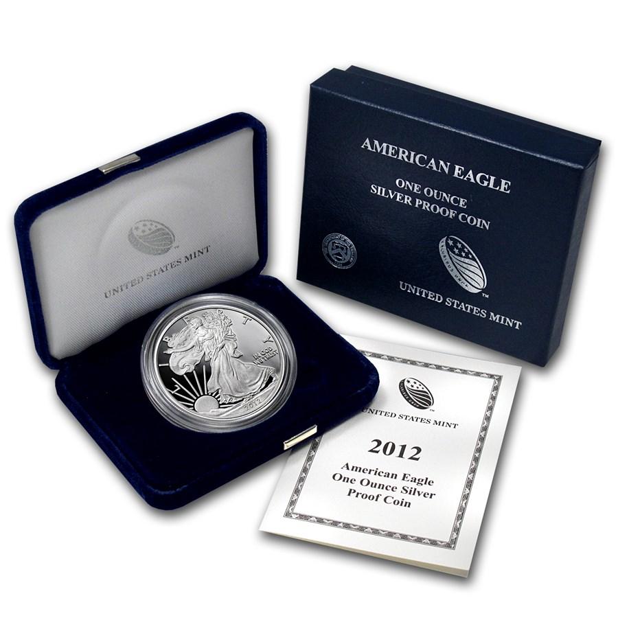 2012-W 1 oz Proof American Silver Eagle (w/Box & COA)