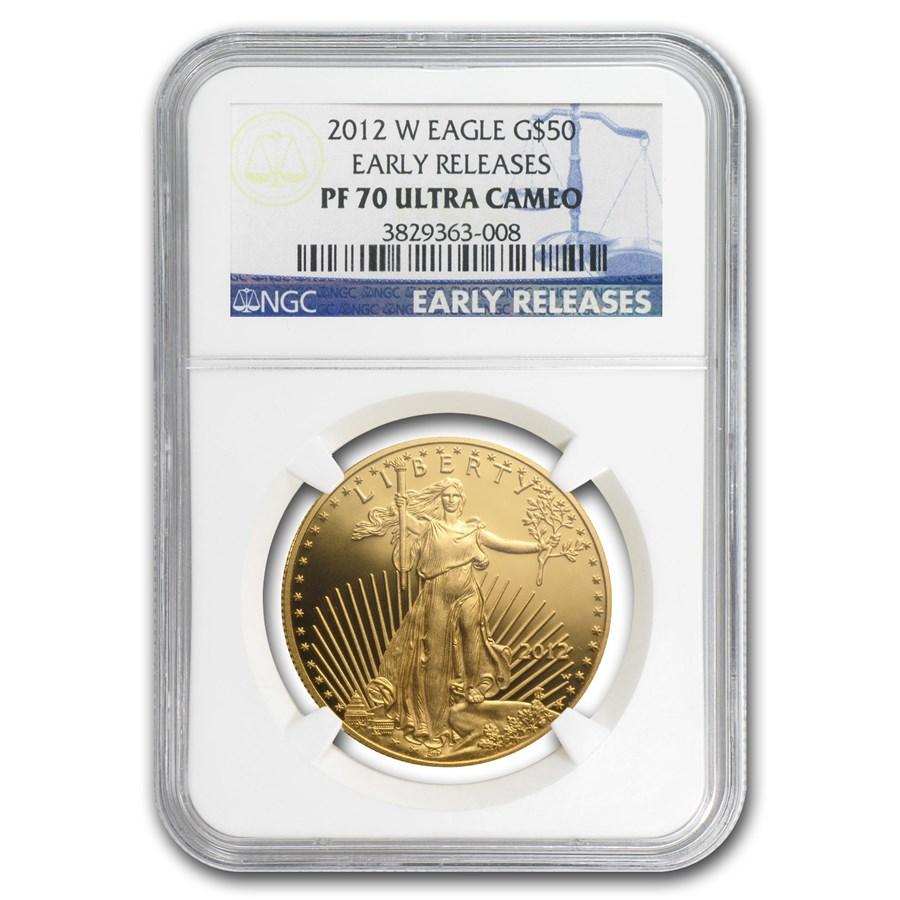 2012-W 1 oz Proof Gold American Eagle PF-70 NGC (ER)