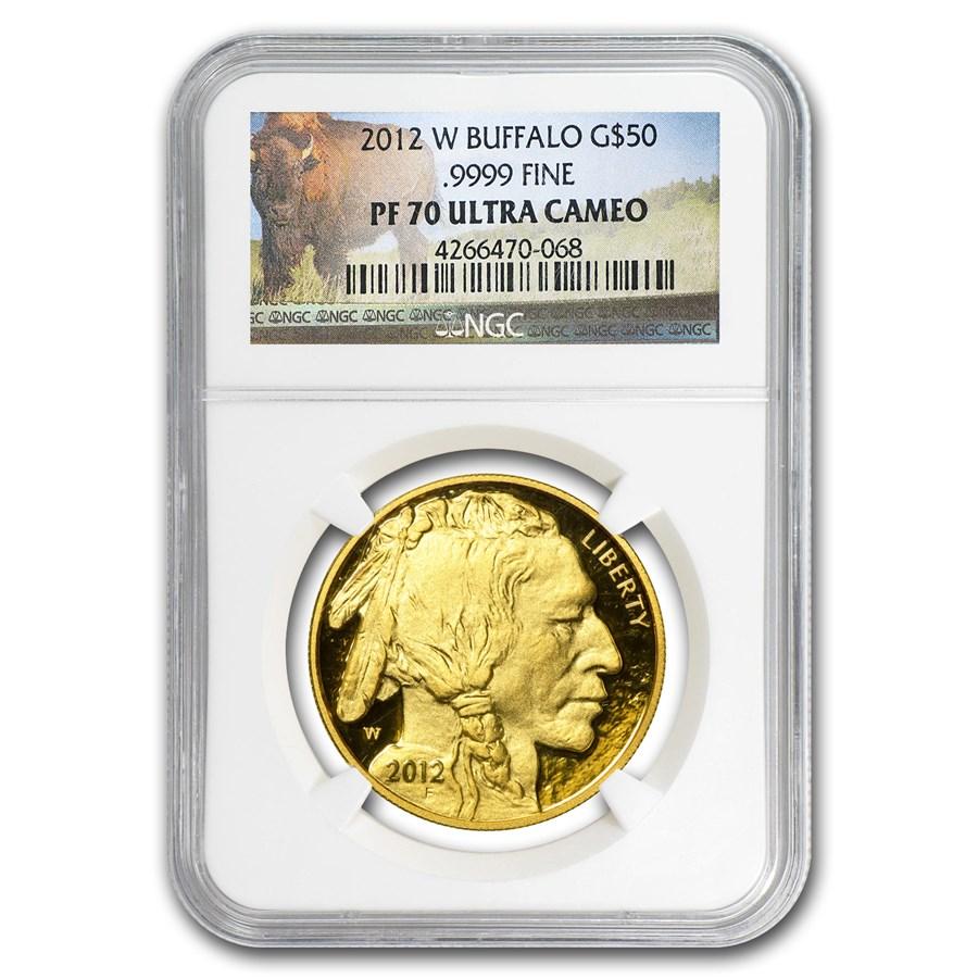 2012-W 1 oz Proof Gold Buffalo PF-70 NGC (Buffalo Label)