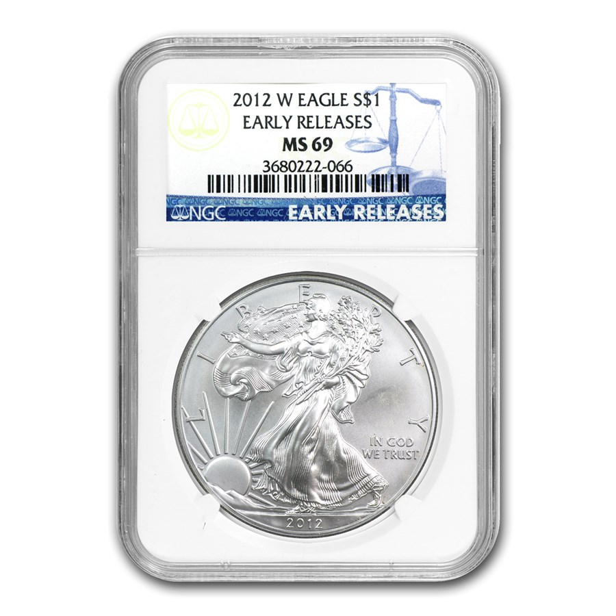 2012-W Burnished Silver American Eagle MS-69 NGC (ER)