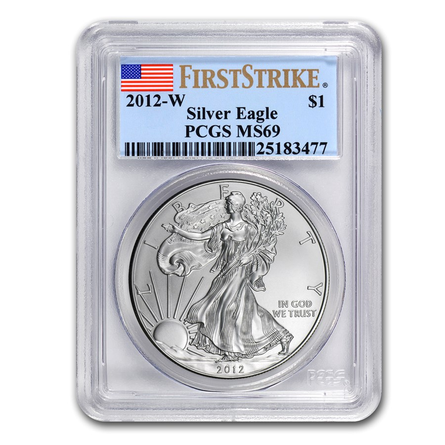 2012-W Burnished Silver American Eagle MS-69 PCGS (FS)