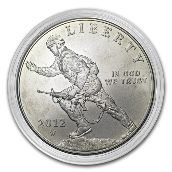 2012-W Infantry Soldier $1 Silver Commem BU (Capsule only)