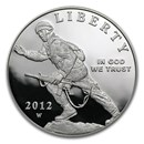2012-W Infantry Soldier $1 Silver Commem Proof (w/Box & COA)