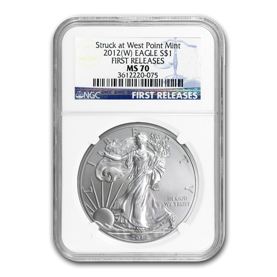 2012 (W) Silver American Eagle MS-70 NGC (ER/FR)