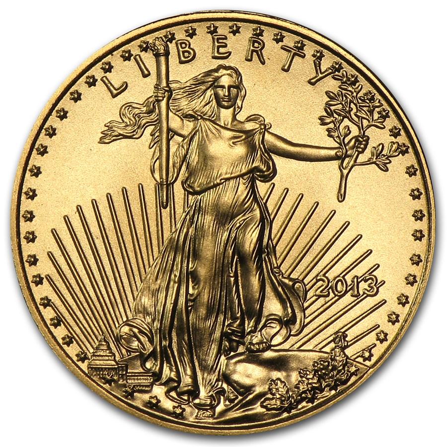 2013 1/10 oz American Gold Eagle BU