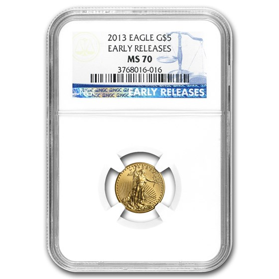 2013 1/10 oz American Gold Eagle MS-70 NGC (Early Release)