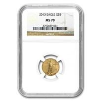 2013 1/10 oz American Gold Eagle MS-70 NGC