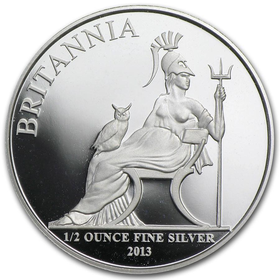 2013 1/2 oz Silver Britannia (Abrasions)