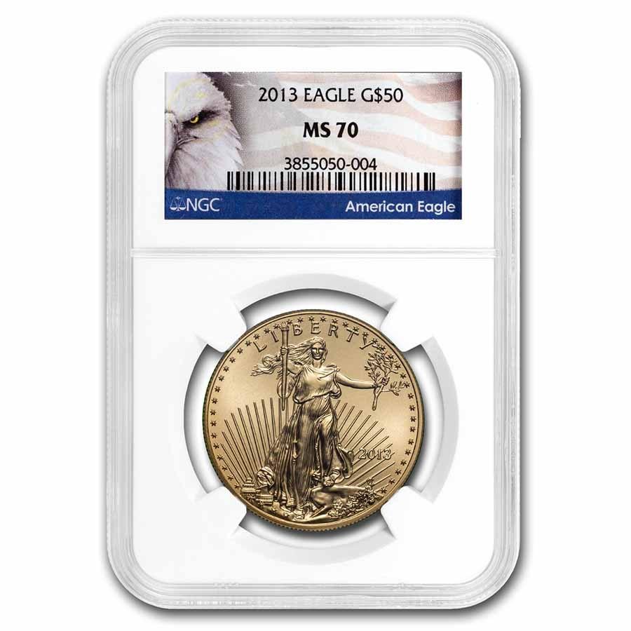 2013 1 oz American Gold Eagle MS-70 NGC (Eagle Label)