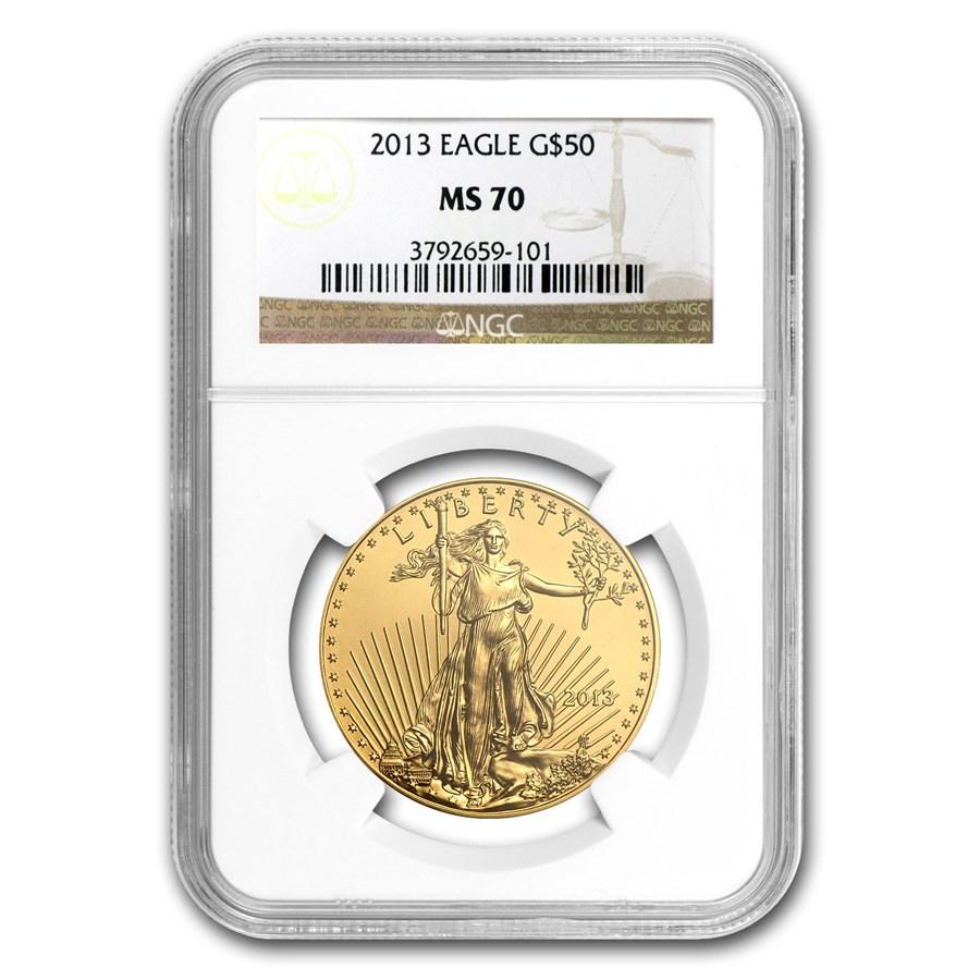 2013 1 oz Gold American Eagle MS-70 NGC