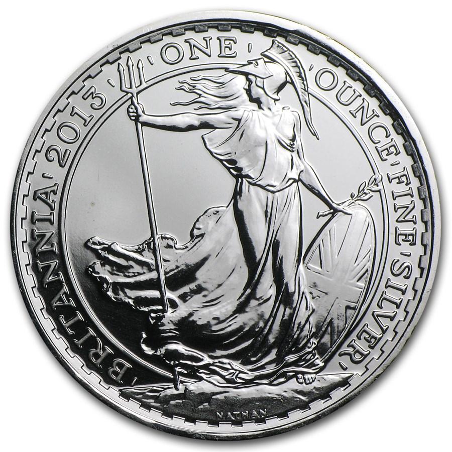 2013 1 oz Silver Britannia BU (w/Year of the Snake Privy Mark)