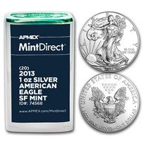 2013 1 oz Silver Eagle SF Mint (20-Coin MintDirect® Tube)