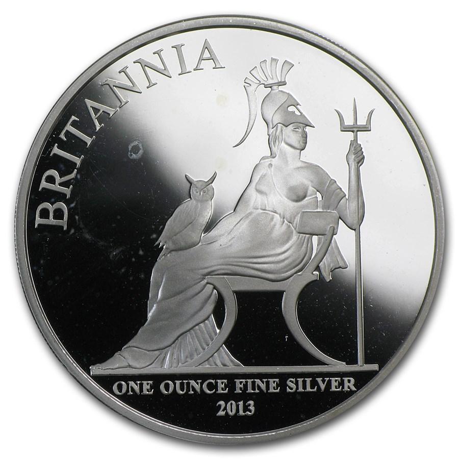 2013 1 oz Silver Proof Britannia (Abrasions)