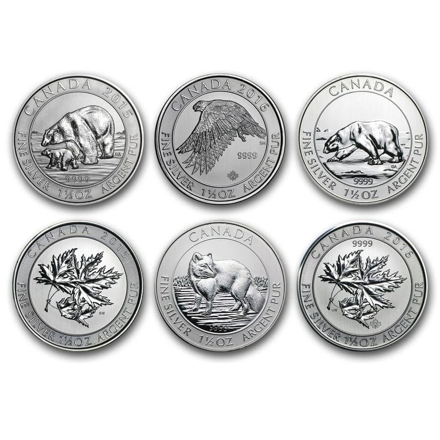 2013-2017 Canada 1.5 oz Silver $8 BU (Random Year)
