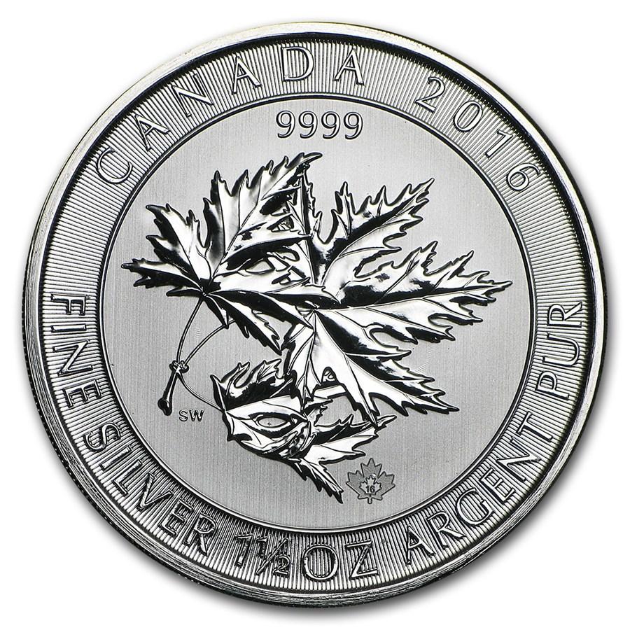 2013-2017 Canada 1.5 oz Silver $8 SuperLeaf BU (Abrasions/Spots)