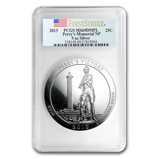 2013 5 oz Silver ATB Perry's Victory MS-69 DMPL PCGS (FS)