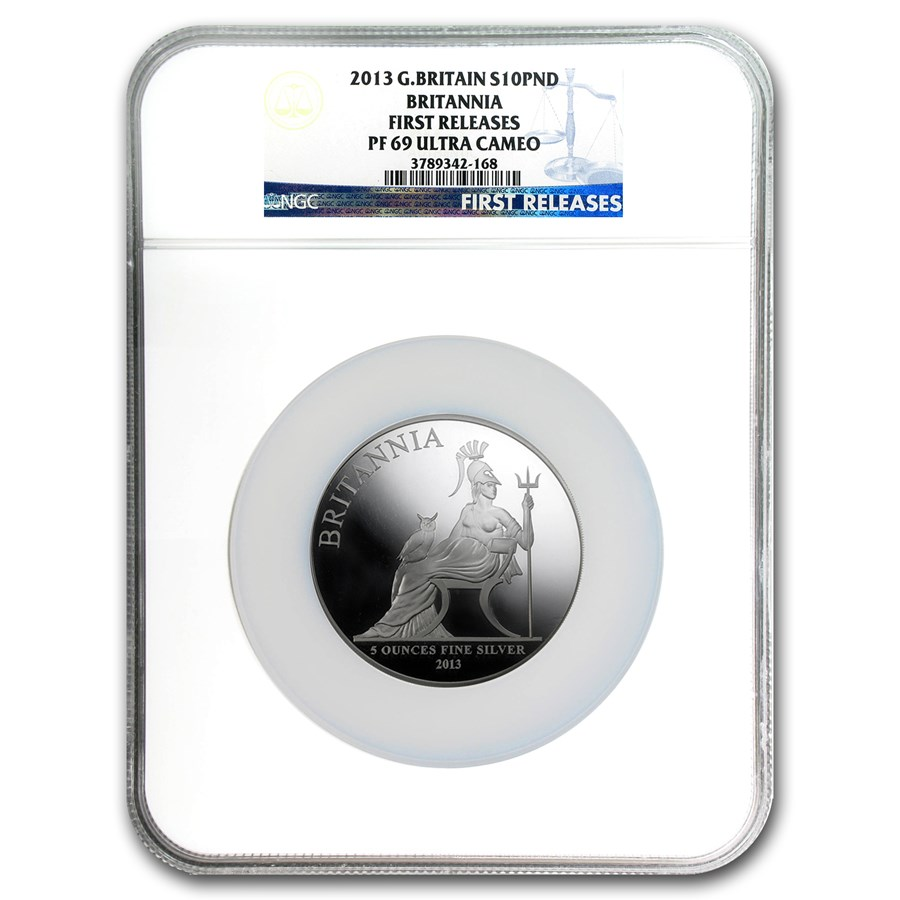 2013 5 oz Silver Britannia PF-69 NGC (First Release)