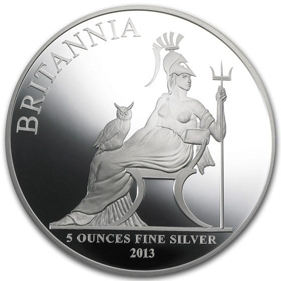 2013 5 oz Silver Britannia Proof