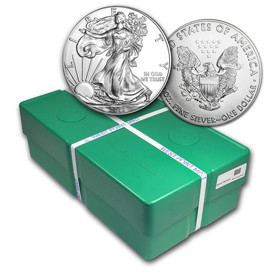 2013 500-Coin Silver Eagle Monster Box (WP Mint, Sealed)