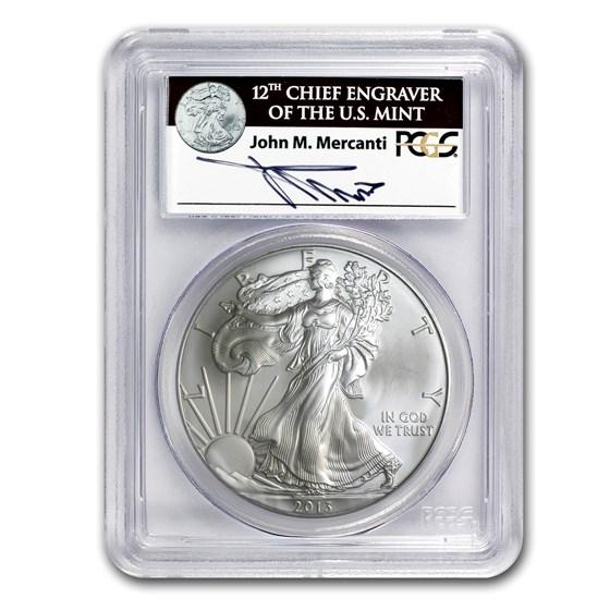 2013 American Silver Eagle MS-70 PCGS (FS, John Mercanti)