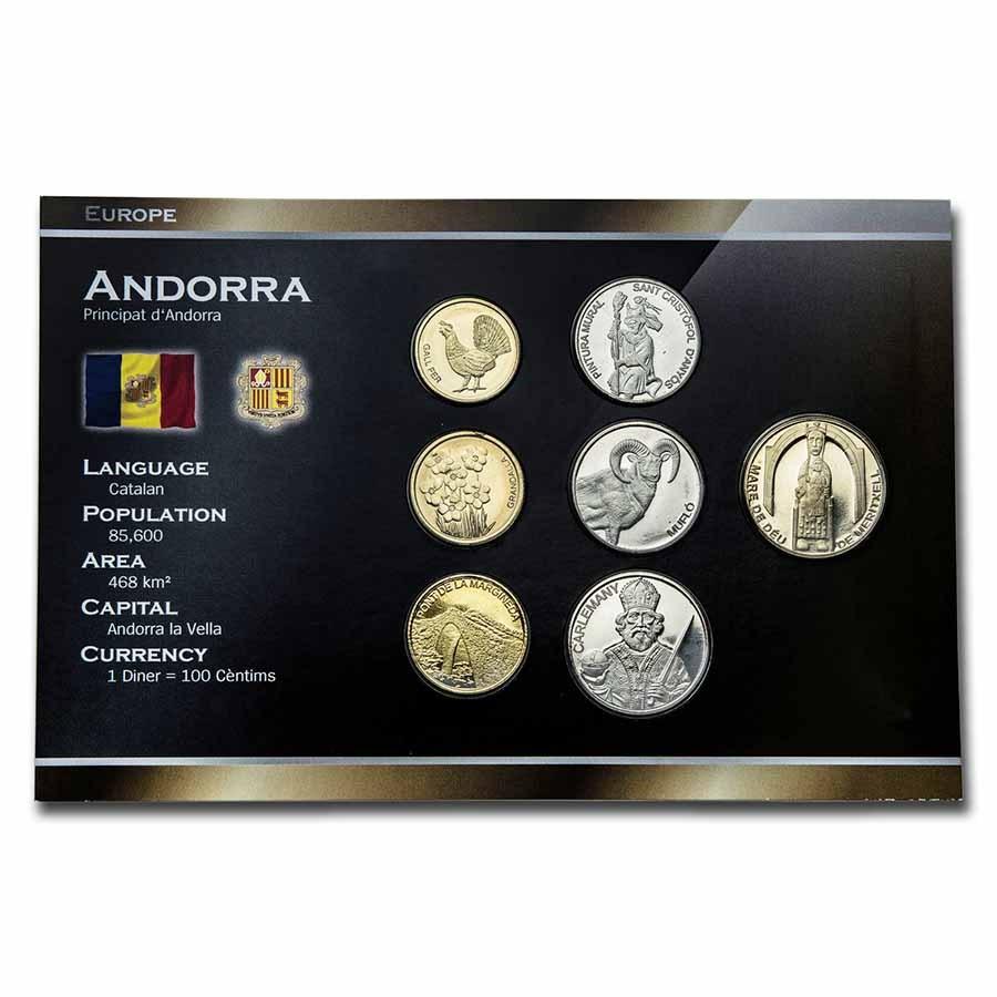 2013 Andorra Pre-Euro 7-Coin Set BU