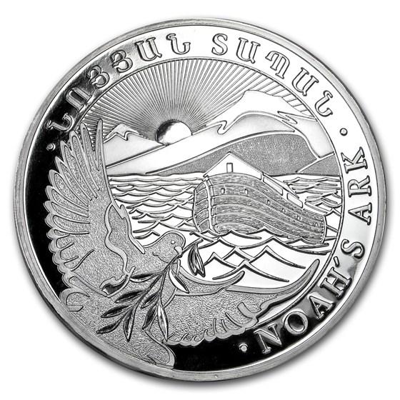 2013 Armenia 1 kilo Silver 10000 Drams Noah's Ark