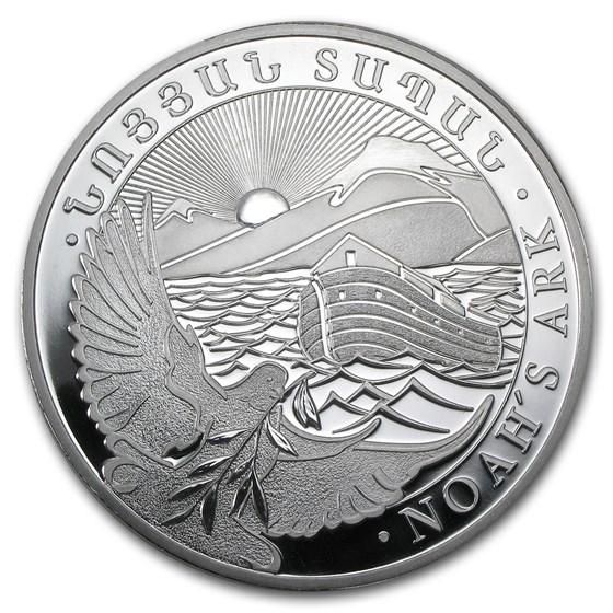2013 Armenia 10 oz Silver 5000 Drams Noah's Ark